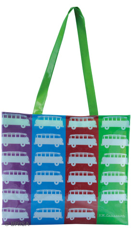 VW Bus T1 Shopper Tote Bag Love Colors