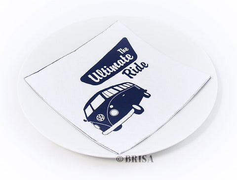 "VW Bus Design Napkin Set - ""Ultimate Ride"""
