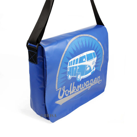 VW T1 Bus Tarpaulin Messenger Bag Blue