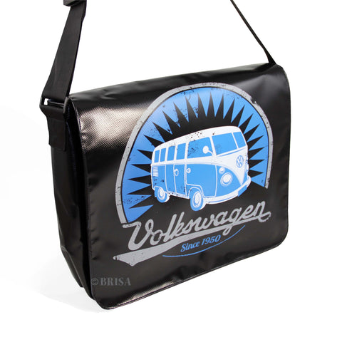 VW T1 Bus Tarpaulin Messenger Bag Black
