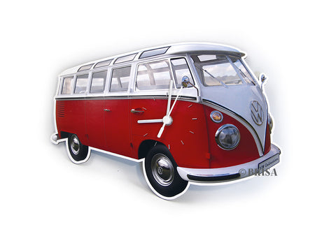 VW T1 Wall Clock Classic Red