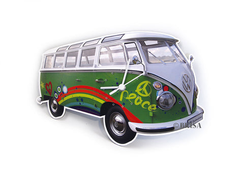 VW T1 Wall Clock Peace