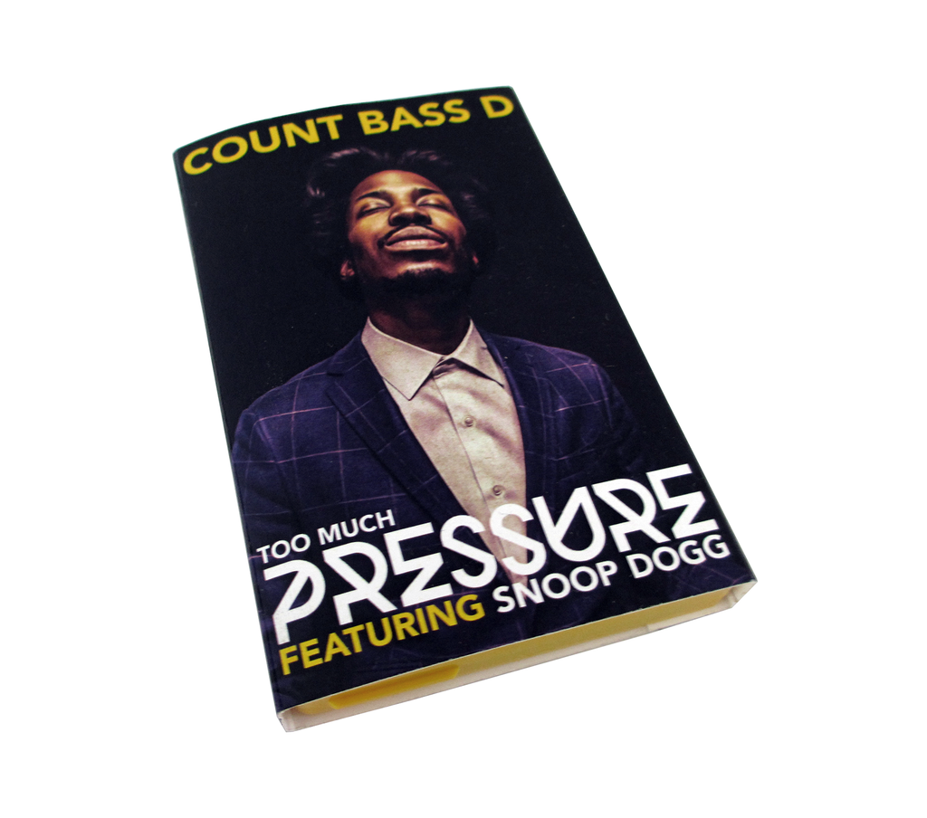 Count Bass D - Too Much Pressure Ft. Snoop Dogg Cassingle + Digital Download