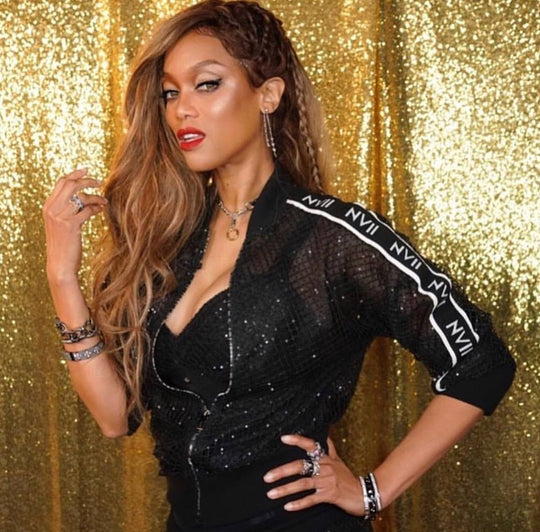 Tyra Banks Wears $840 NVII Black Track Suit on 'America's Got Talent'