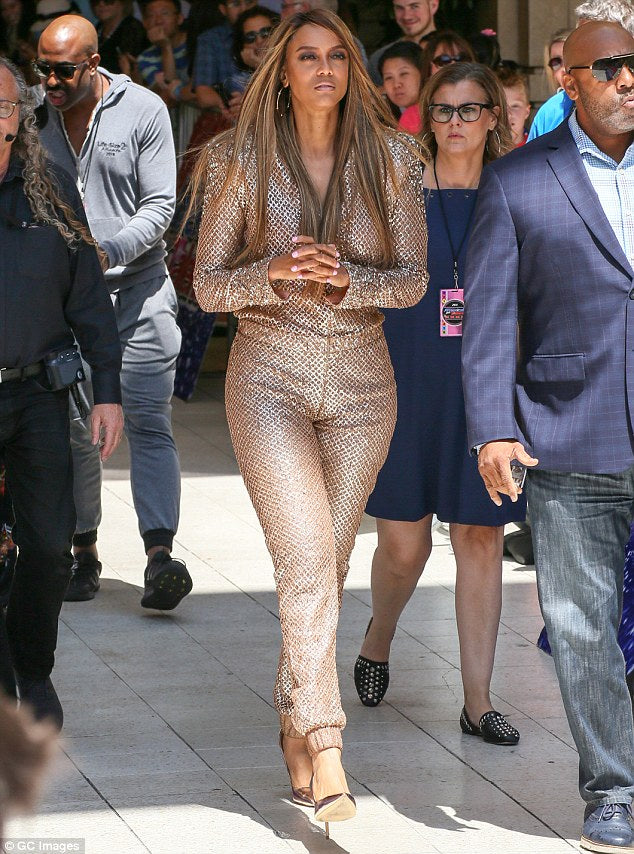 Tyra Banks wears NOMAD VII at Simon Cowell's Walk Of Fame Ceremony