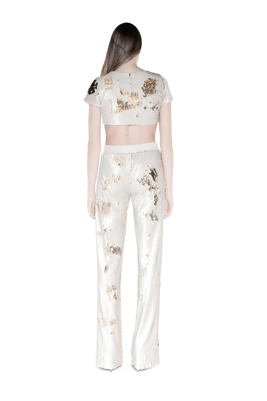 NOMAD VII - DAKOTA SEQUIN CROP TOP - NOMAD VII X ANNE BOWEN