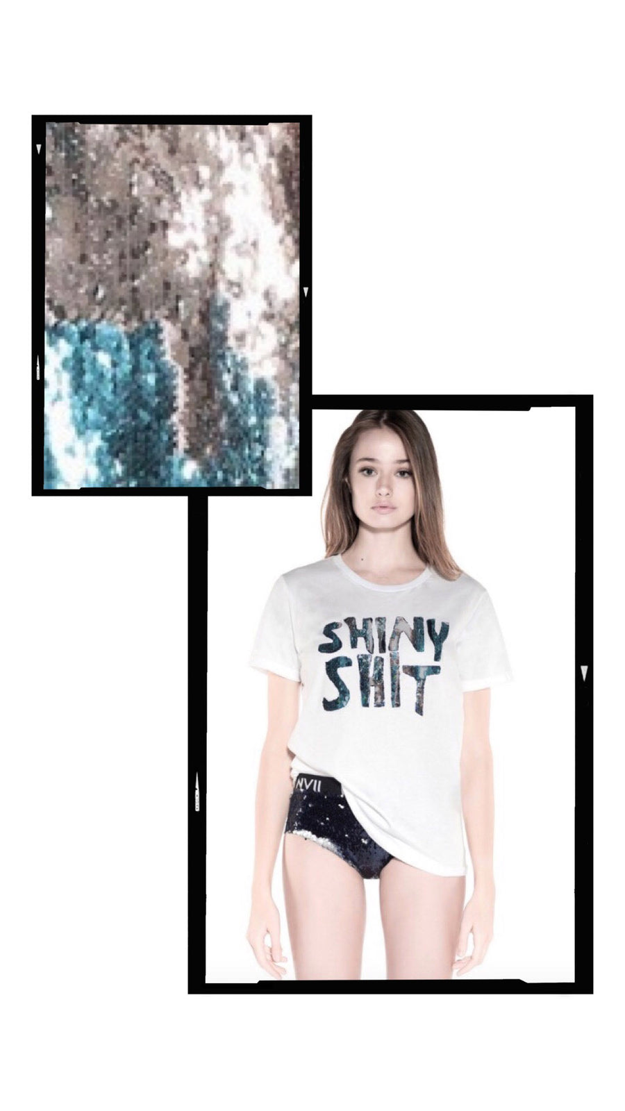 NOMAD VII - SHINY SHIT TSHIRT (CUSTOMIZE YOUR OWN) - NOMAD VII X ANNE BOWEN
