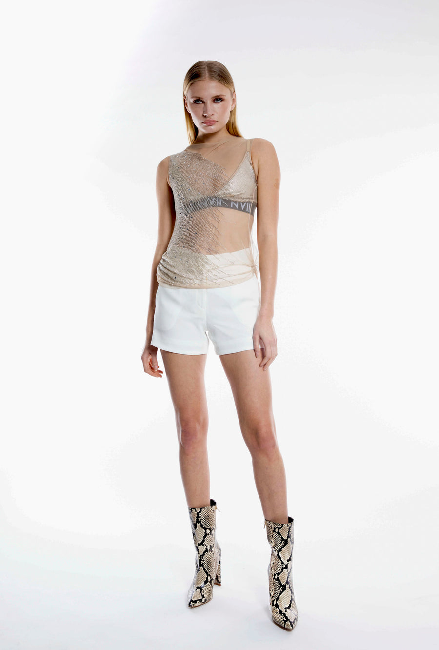 NOMAD VII - MATEA BEADED TOP - NOMAD VII X ANNE BOWEN