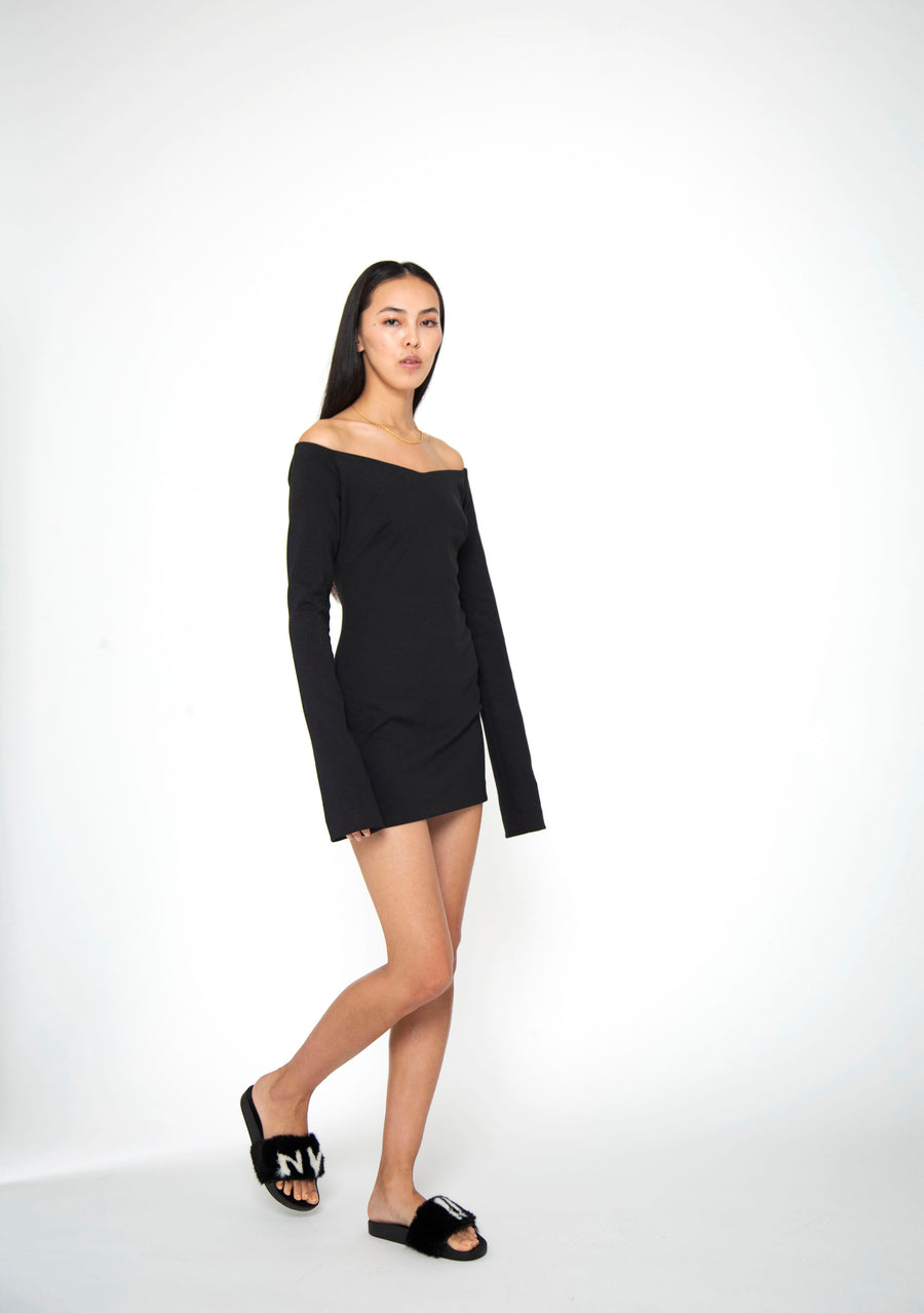 NOMAD VII - SELFISH OFF-SHOULDER DRESS - NOMAD VII X ANNE BOWEN