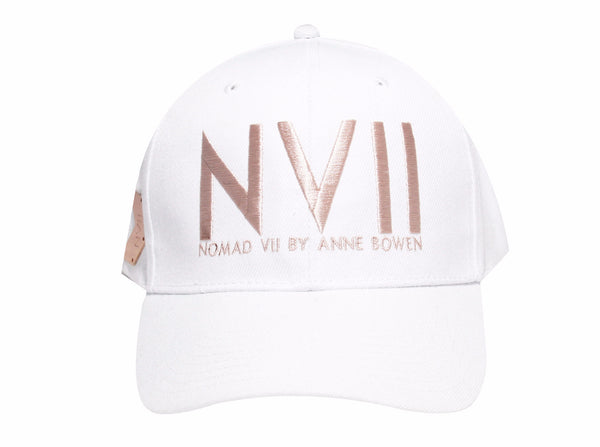 NVII - NEW YORK STYLE BASEBALL HAT (WHITE) - NOMAD VII X ANNE BOWEN