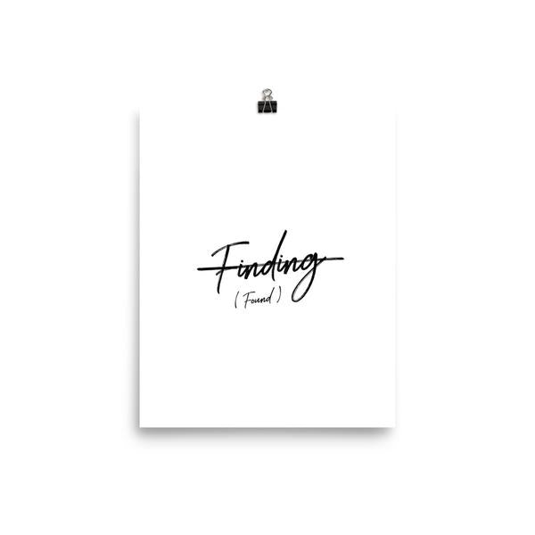 Finding (Found) Poster