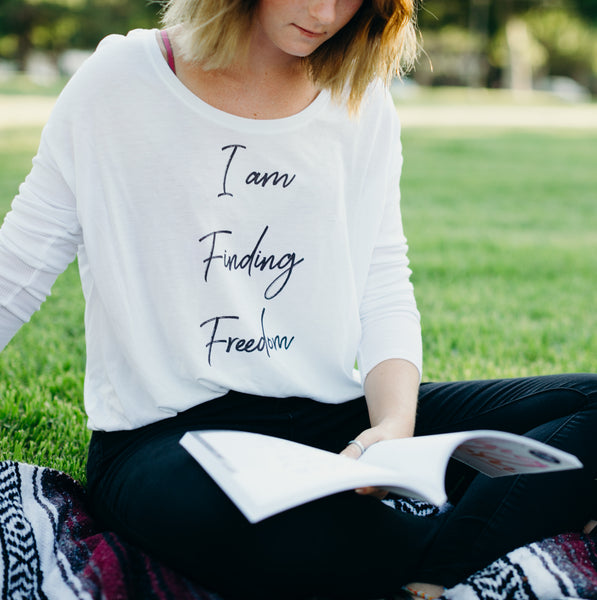 I am Finding Freedom Ladies' Long Sleeve Tee