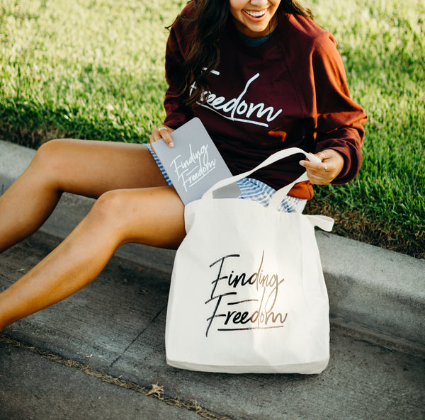 Finding Freedom Tote bag