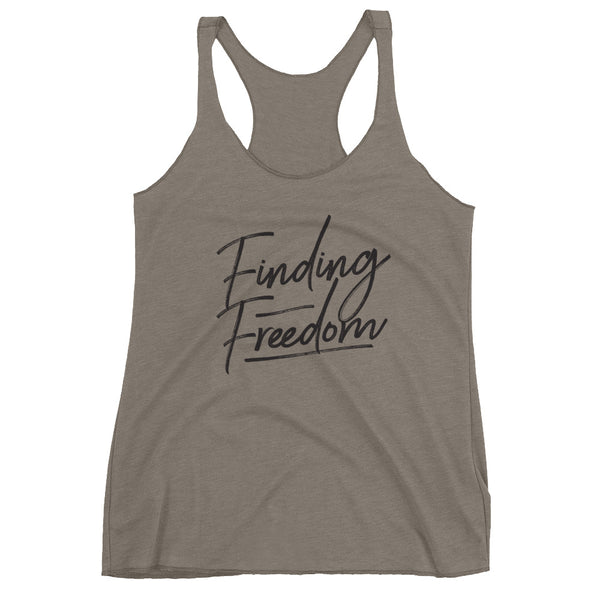 Finding Freedom Women's Racerback Tank