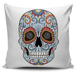Blue Skull Pillow Cover