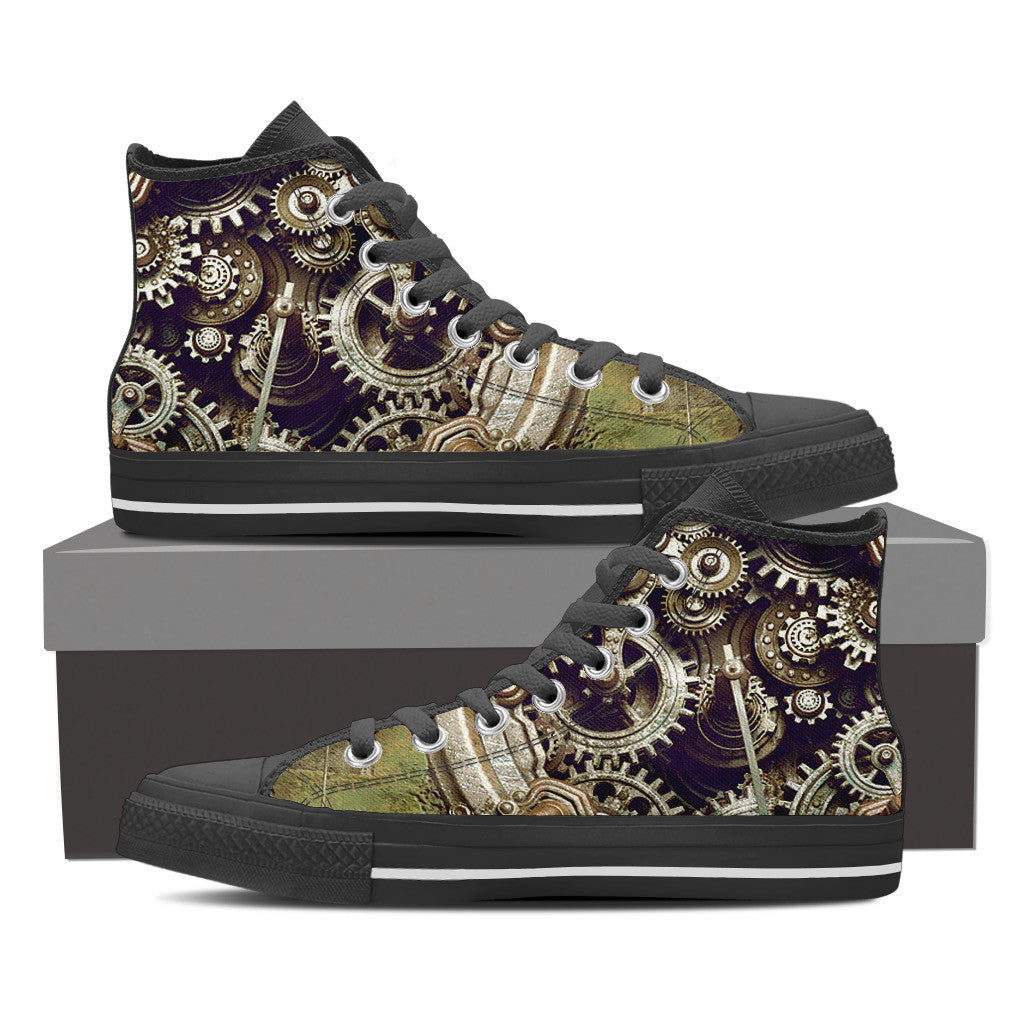 Steampunk Gear High Tops