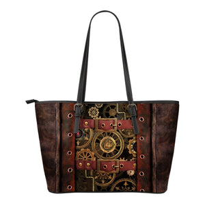 Steampunk III Leather Tote (Small) - Hello Moa