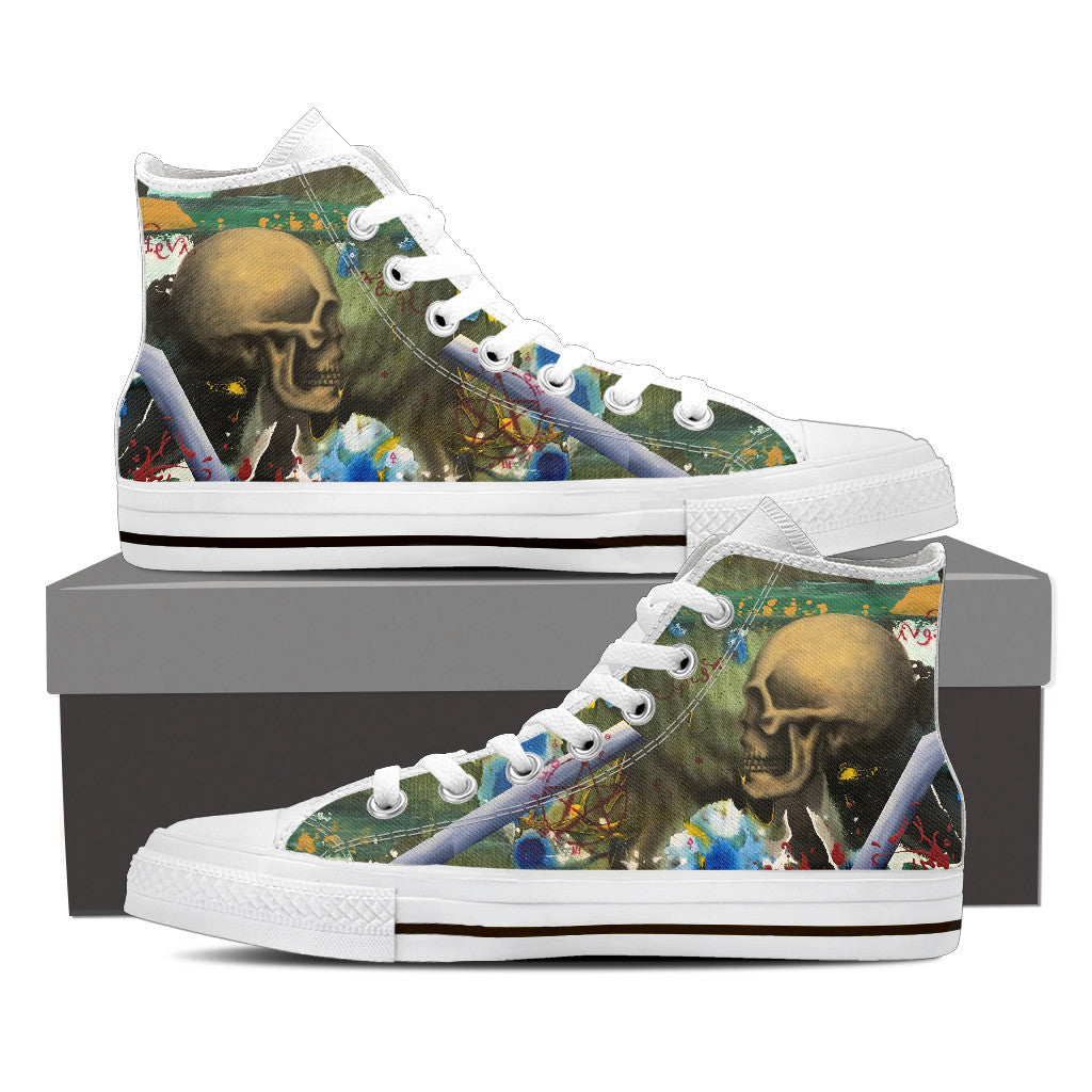 Skull Series IV High Tops - Hello Moa