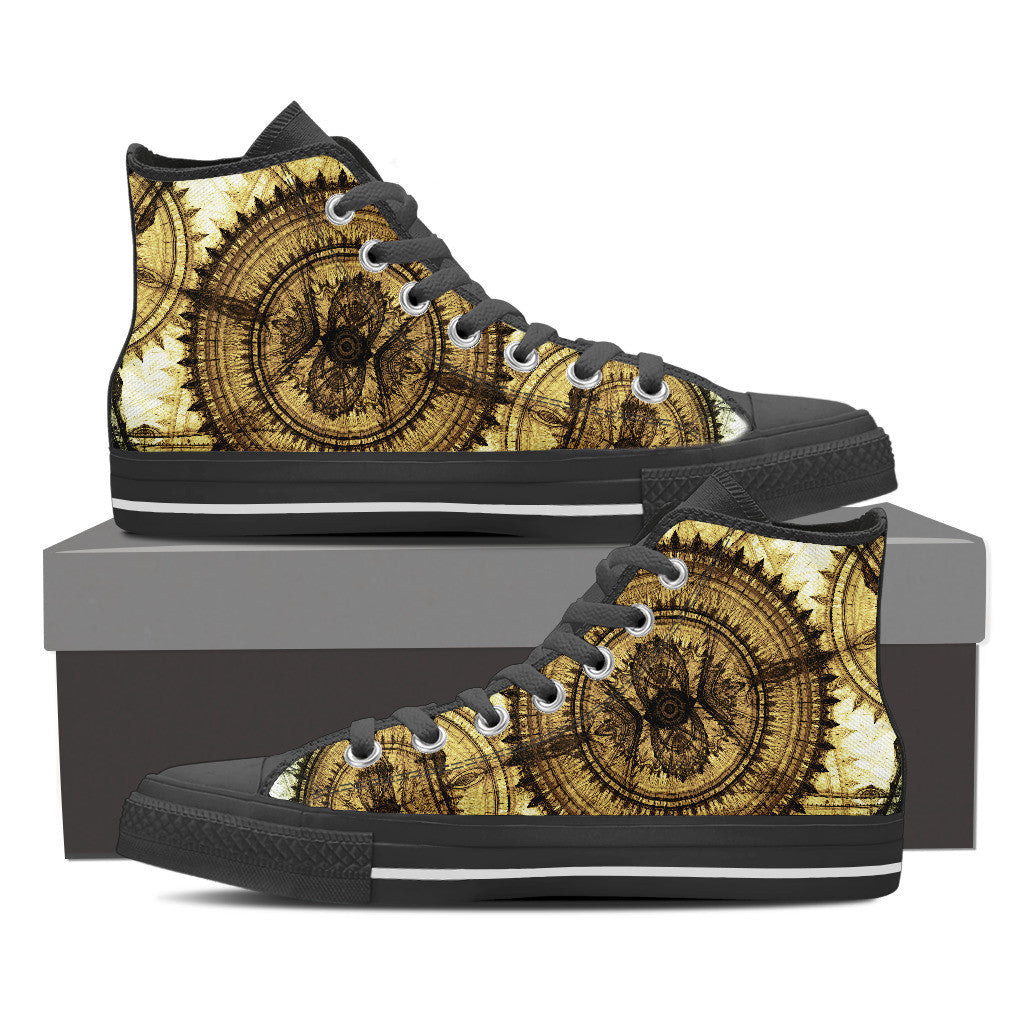 Dial Steampunk High Tops - Hello Moa