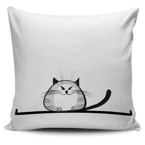 Funny Cat XII Pillow Cover - Hello Moa