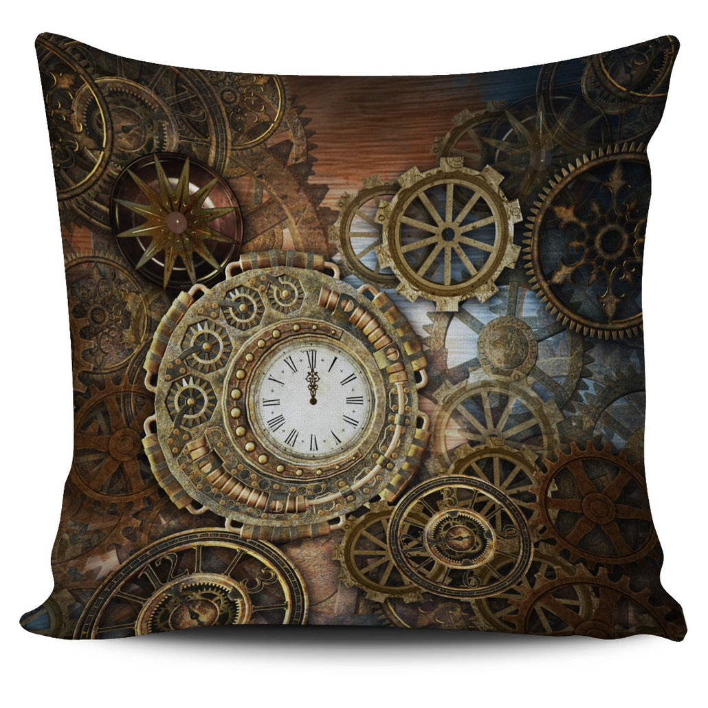 Clock & Cogs Pillow Cover