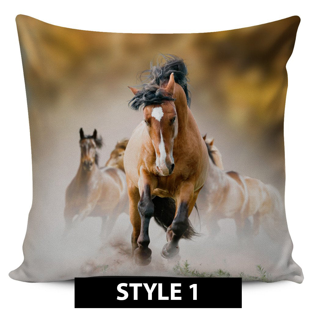 Running Horses Pillow Covers - Hello Moa