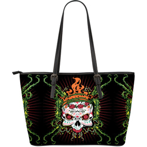 Sugar Skull Fire Large Tote
