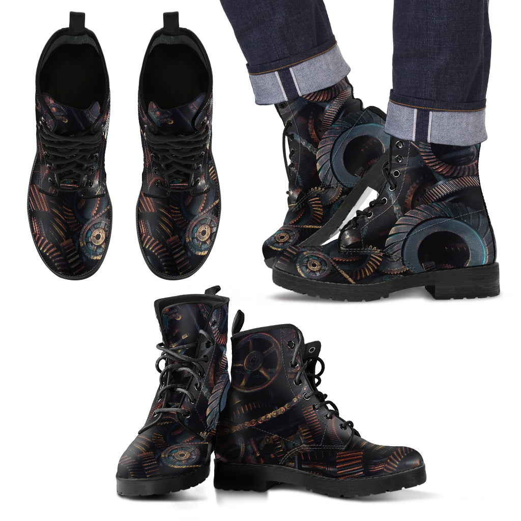 Brown Gear Boots (Men's) - Hello Moa