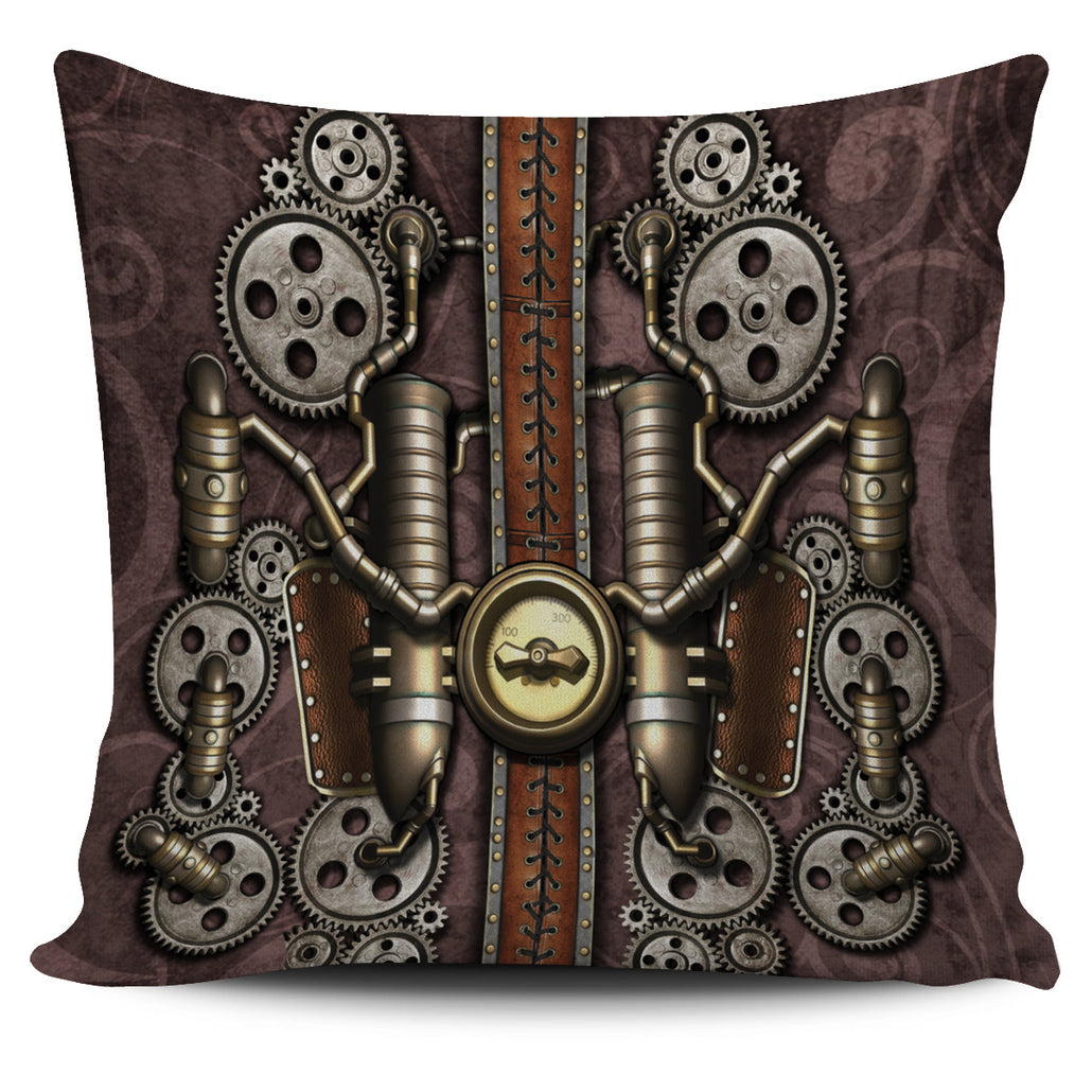 Steampunk Pipe Pillow Cover