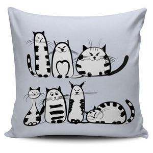 Funny Cat V Pillow Cover