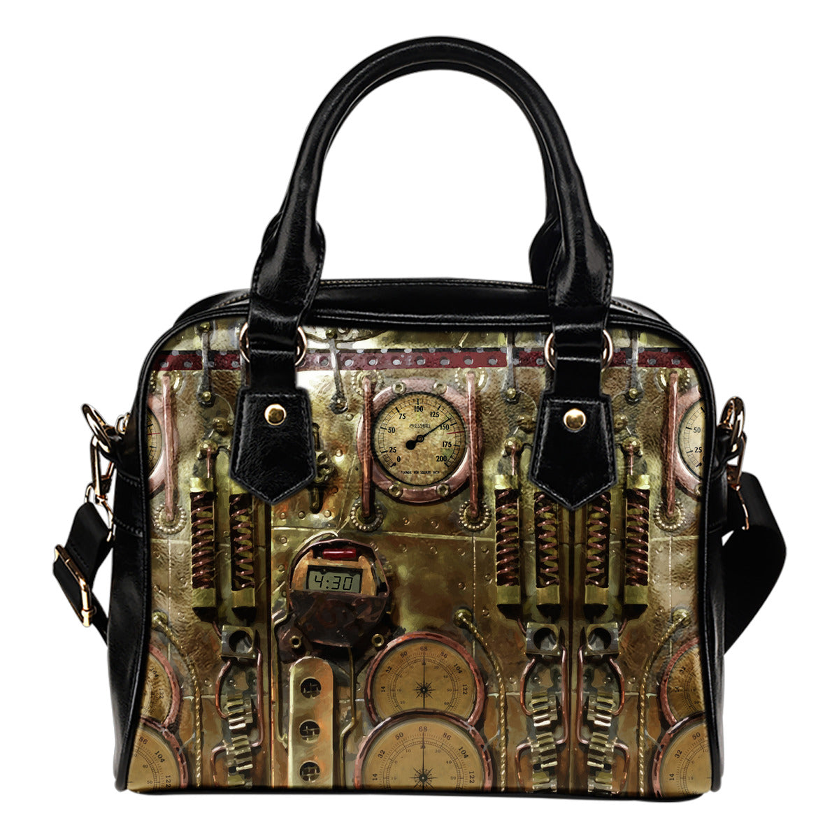 Bronze Steampunk Shoulder Handbag - Hello Moa