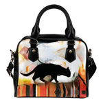 Art V Cat Shoulder Handbag