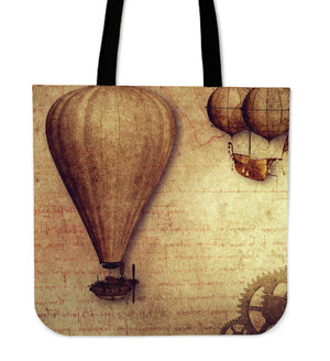 Steampunk Vintage Balloon Cloth Tote Bag - Hello Moa