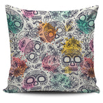Watercolor Skull Pillow Cover - Hello Moa