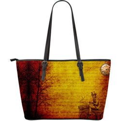 Steampunk Penny Leather Tote