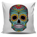 Green Skull Pillow Cover
