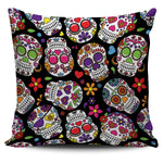 Multi Colored Skull Pillow Cover - Hello Moa
