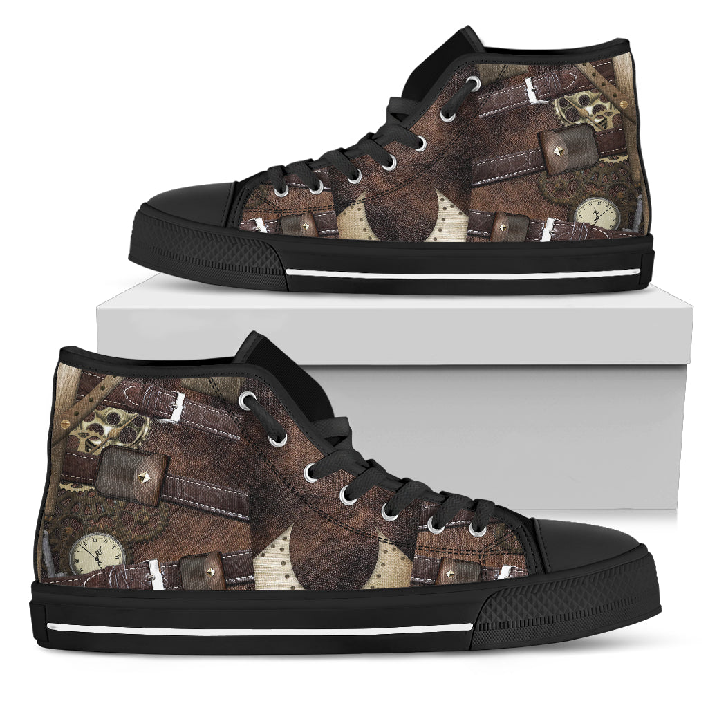 Steampunk Buckled Canvas Shoes