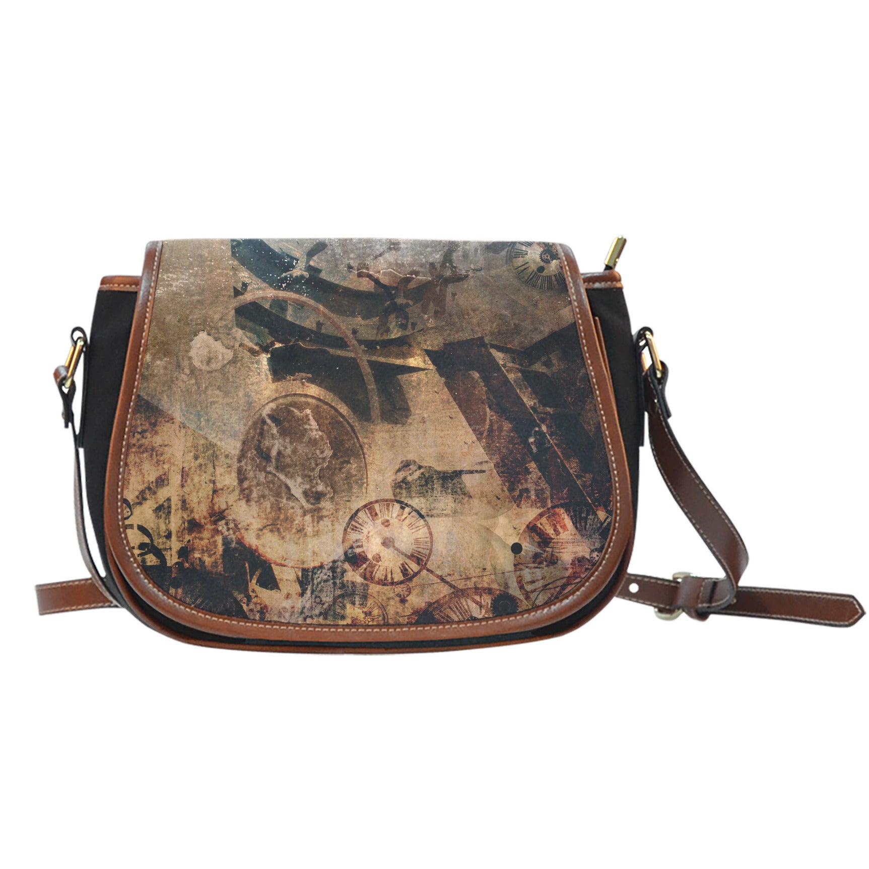 Steampunk Art Saddle Bag - Hello Moa