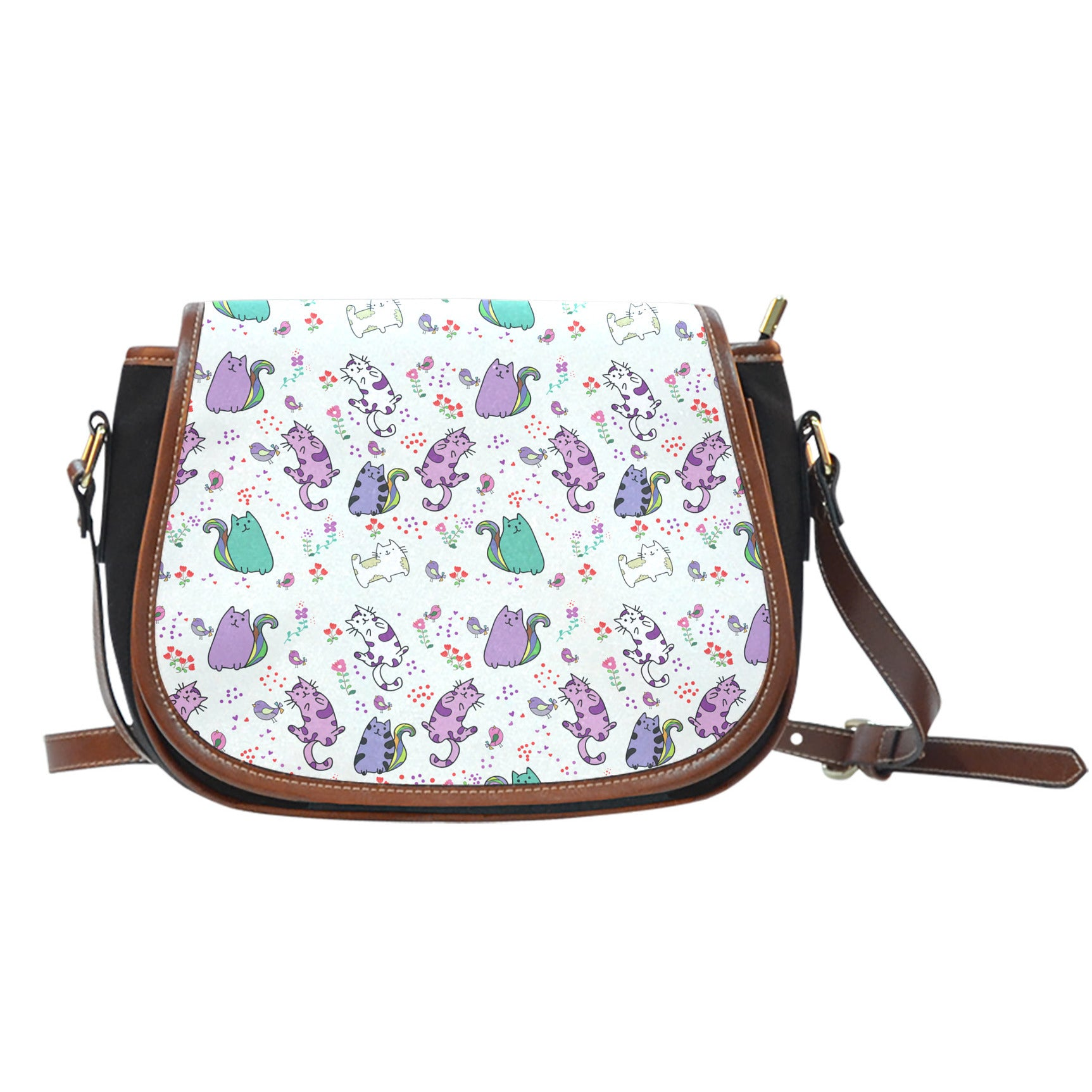 Cute Cat Saddle Bag