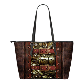 Steampunk V Leather Tote (Small)