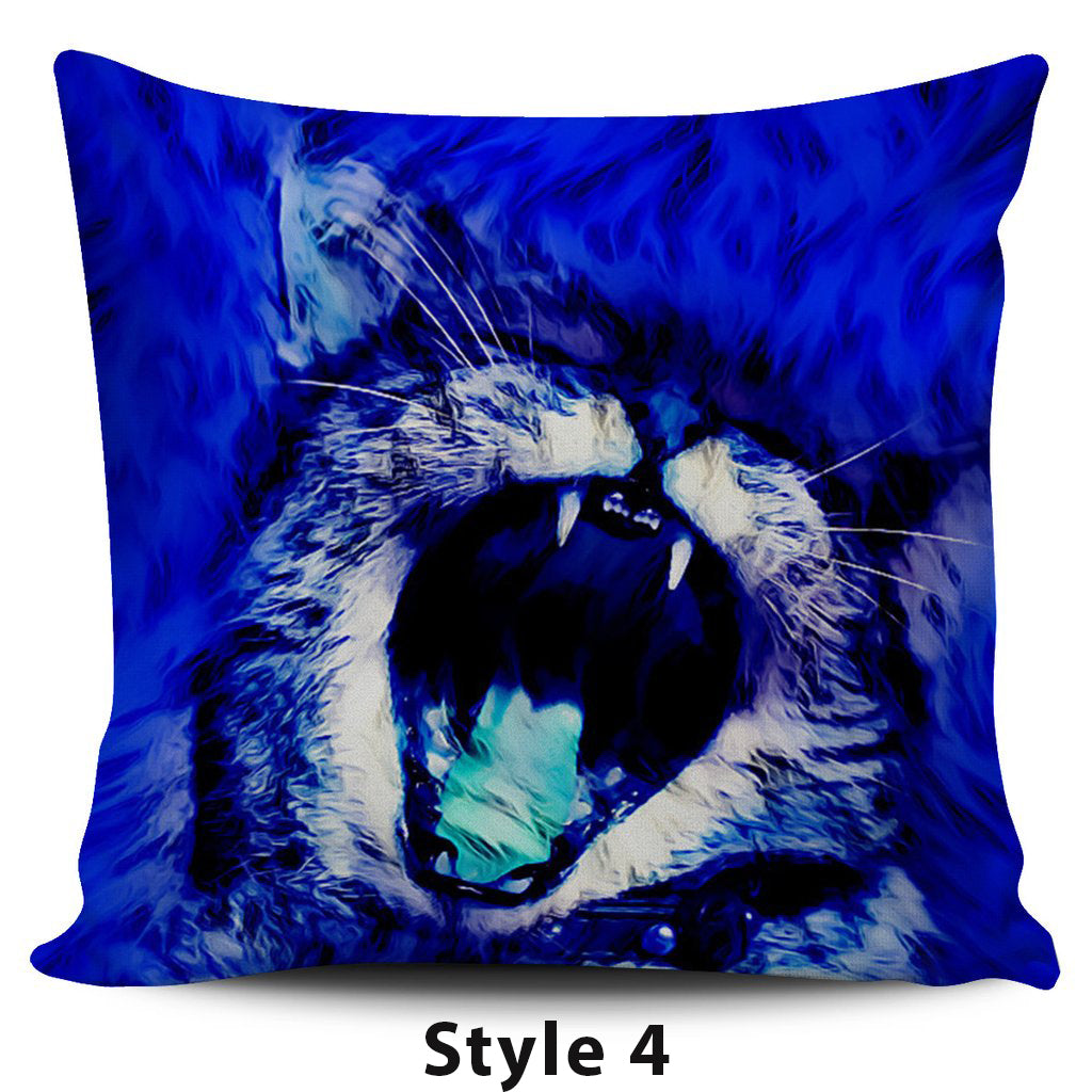 Blue Cat Pillow Covers - Hello Moa