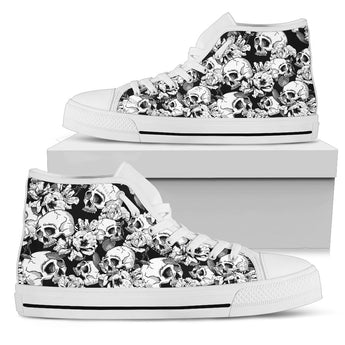 Skulls High Top Shoes