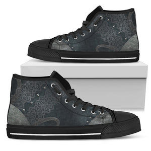 Navy Lace High Tops (Women's) - Hello Moa