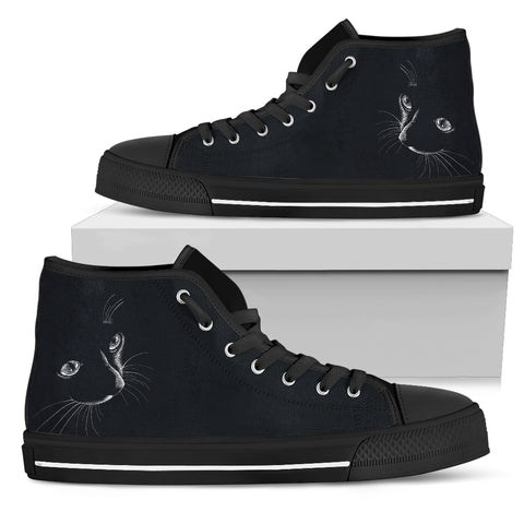 Black Cat I Hi Tops (Women's)