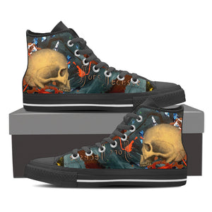 Skull Series III High Tops - Hello Moa
