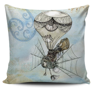 Steampunk Plane Pillow Cover - Hello Moa