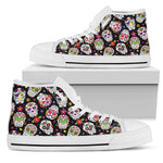 Colorful Sugar Skull High Top Shoes