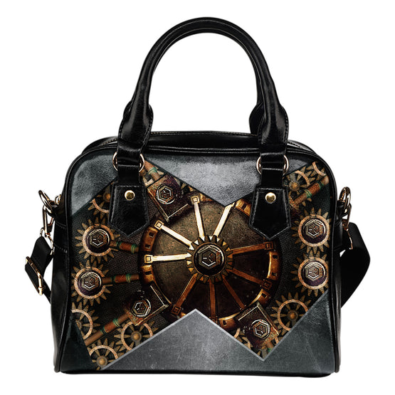 Hidden Gear Shoulder Handbag