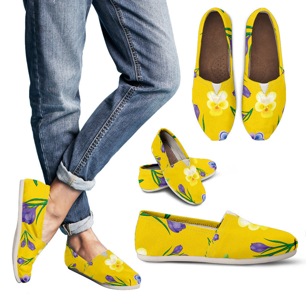 Yellow Flower Casual Shoe
